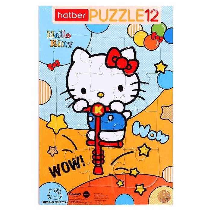 Пазл в рамке 12 элемента Hello Kitty