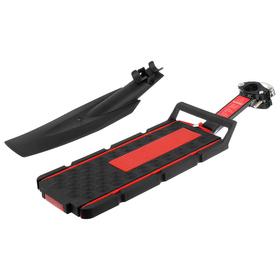 """Багажник 20""""-28"""" BLF-H22 задний на подседельную трубу, пластик, цвет чёрно-красный"""