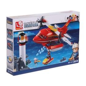 Конструктор «Пожарный вертолет», 348 деталей