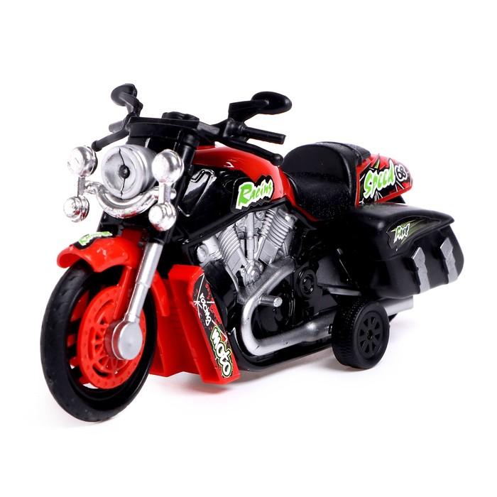 Мотоцикл инерционный «Чоппер», световые и звуковые эффекты, МИКС