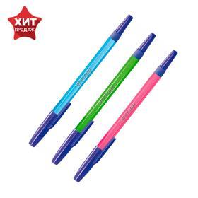 Ручка шариковая «Стамм» 049 NEON, узел 1.0 мм, чернила синие, стержень 135 мм, микс