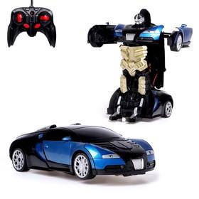 Робот-трансформер радиоуправляемый «Автобот», работает от аккумулятора, заряд от USB, цвета МИКС