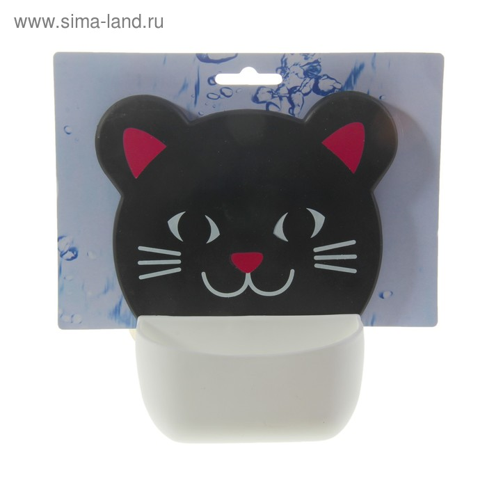 """Держатель для ванных принадлежностей на присосках """"Черный кот"""""""