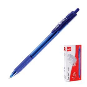 Ручка шариковая автоматическая Cello Comfort, узел 0.7мм, резиновый упор, чернила синие, корпус синий