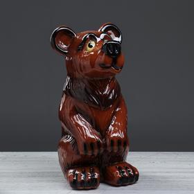 """Копилка """"Медведь"""" глянец, коричневый, 38 см"""