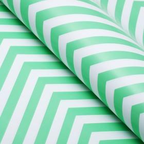 Бумага глянцевая, зигзаг, 49 х 70 см. зелёная