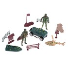 "A set of toy soldiers ""Platoon"" MIX color"