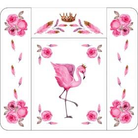 Пеленальный матрасик «Розовый Фламинго», 82х73 см