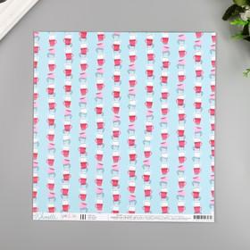 """Бумага для скрапбукинга Shimelle """"Clean Cup"""" 30.5х30.5 см, 190 гр/м2"""