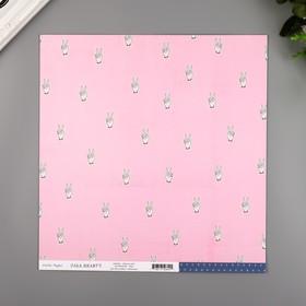 """Бумага для скрапбукинга Crate Paper """"Peace Out"""" 30.5х30.5 см, 190 гр/м2"""