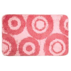 Коврик для ванной комнаты IDDIS Circles 271A580i12, 50х80 см, Pink, акрил