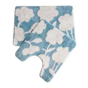 Набор ковриков для ванной комнаты IDDIS P37M465i12, 45х65 и 45х50 см, микрофибра