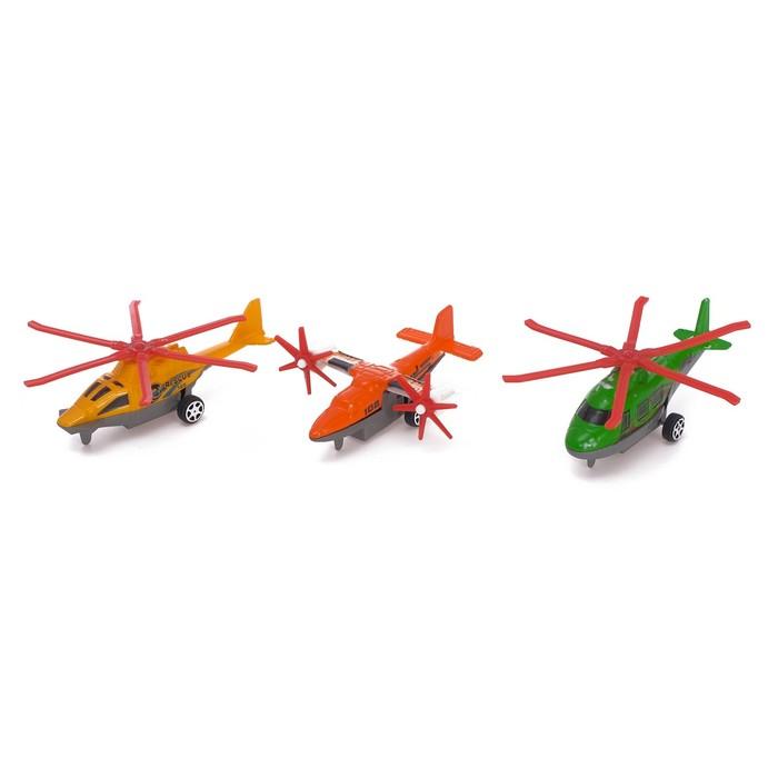 Вертолет инерционный «Воздушный патруль», набор 3 штуки, цвета МИКС