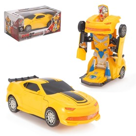 "Robot transformer ""Autobot"", light and sound effects, runs on batteries"