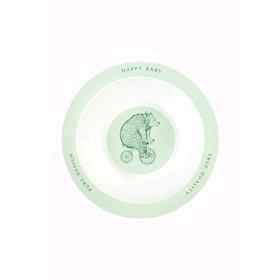 Тарелка глубокая для кормления, цвет olive