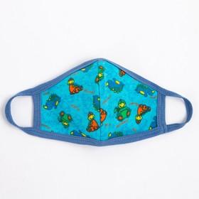 Повязка тканевая для мальчика, цвет голубой микс, возраст 3-6 лет в наличии