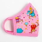 Повязка тканевая для девочки, цвет розовый микс, возраст 3-6 лет в наличии - фото 105802400