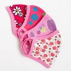 Повязка тканевая для девочки, цвет розовый микс, возраст 7-12 лет в наличии - фото 105802397