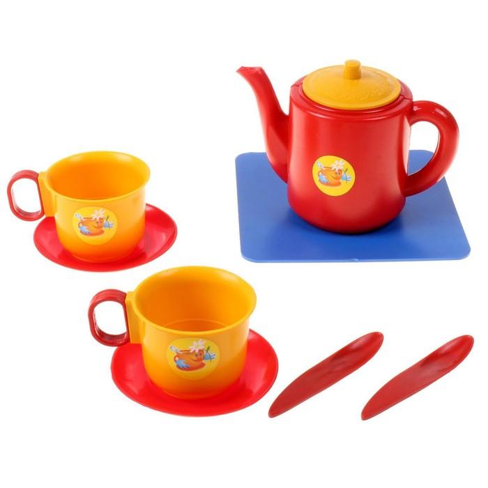 """Посуда для кукол """"Набор чашек с чайником"""""""