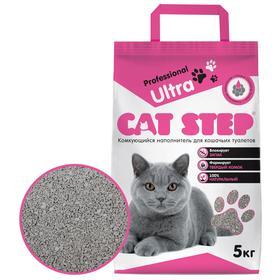 Наполнитель минеральный комкующийся CAT STEP Professional Ultra, 5 кг