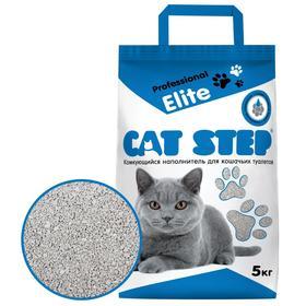 Наполнитель минеральный комкующийся CAT STEP Professional Elite, 5 кг