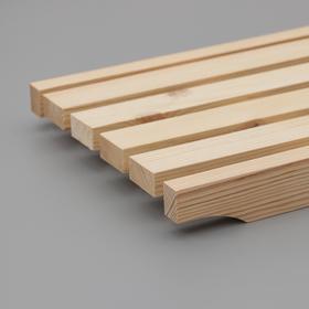 Решётка трап-сиденье на ванну 70×27×4 см, сосна, 1 сорт