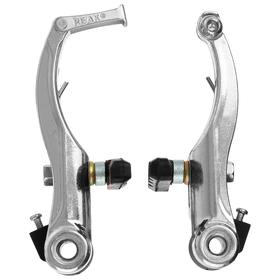 Тормоз V-brake, комплект: передний и задний 110 мм, колодки 60 мм, серебристый