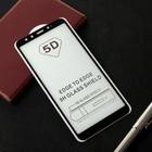 Защитное стекло Cassedy Full Cover, для Xiaomi Mi A2, полный клей, чёрная рамка