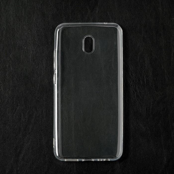 Чехол Qumann, для Xiaomi Redmi 8A, силиконовый, прозрачный - фото 71343