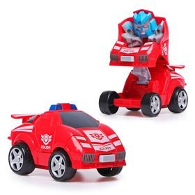 Робот инерционный «Авторобот», трансформируется при столкновении, цвета МИКС