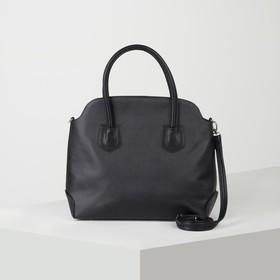 Сумка женская, отдел на молнии, наружный карман, регулируемый ремень, цвет чёрный