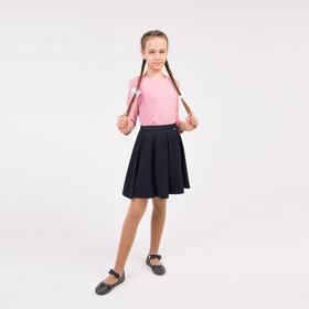 Школьная юбка для девочки, цвет синий, рост 128 см (60)
