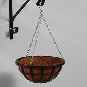Кашпо подвесное, d = 25 см, с кокосовым вкладышем, «Сетка»