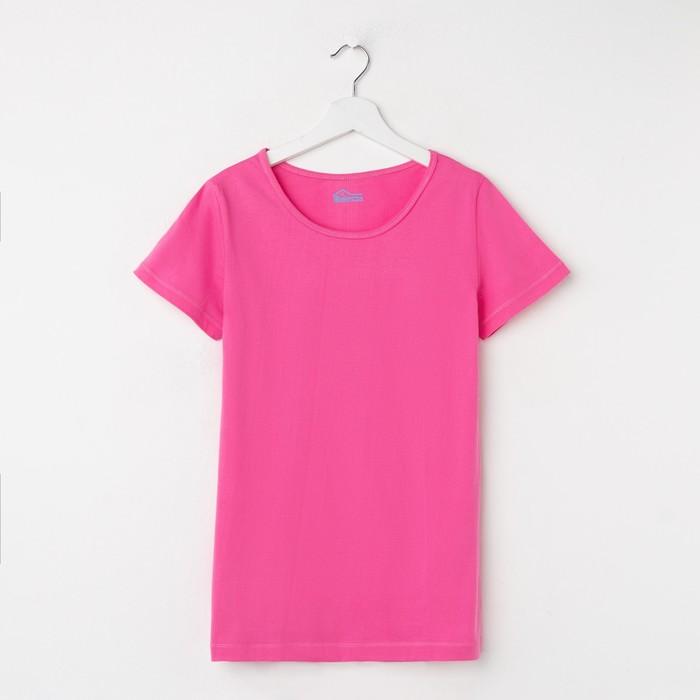 Футболка Classic, цвет розовый, рост 158-164 см - фото 1934036