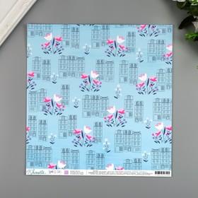 """Бумага для скрапбукинга Shimelle """"Spring In The City"""" 30.5х30.5 см, 190 гр/м2"""