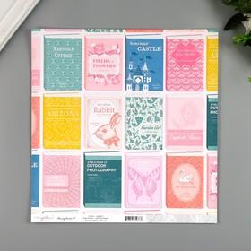 """Бумага для скрапбукинга Crate Paper """"LIBRARY"""""""" 30.5х30.5 см, 190 гр/м2"""