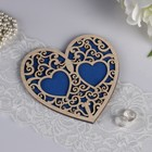 """Stand under the ring """"Heart"""", blue, 16,5x16,5 cm"""