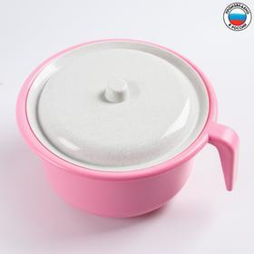 Горшок детский с крышкой,  цвет светло-розовый Ош
