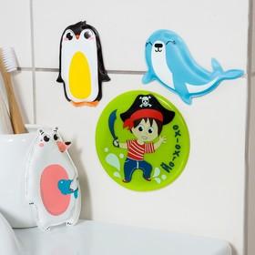 """Набор ПВХ игрушек для ванны 3шт + мини-коврик """"Северный полюс"""""""