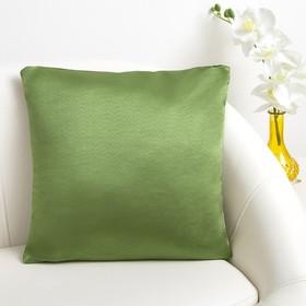 Подушка декоративная «Этель» 40×40, цв.фисташковый, краше, 100% п/э