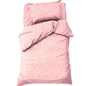 "КПБ ""Этель"" 1,5 сп Soft pink 143х215 см, 150х214 см, 50х70 см -1 шт, 100% хл, бязь"