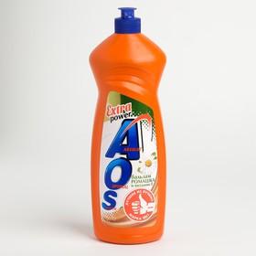 AOS 900мл Средство для мытья посуды Бальзам Ромашка и Витамин Е