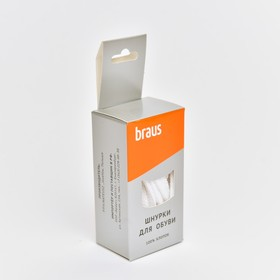 BRAUS 100 cm Flat laces White.