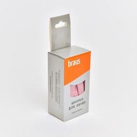 BRAUS Laces 120 cm flat, Pink.