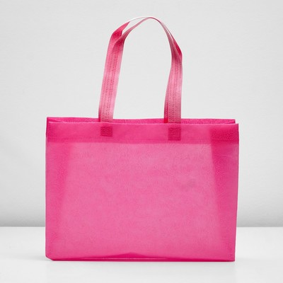 "Packages with the loopback handle ""3D pattern"" 30х42х10 cm, pink"