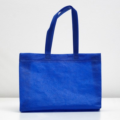 "Packages with the loopback handle ""3D pattern"" 30х42х10 cm, blue"