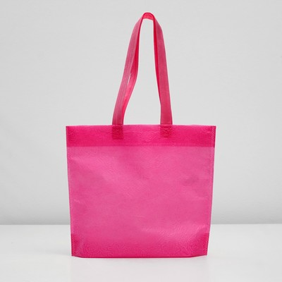 "Packages with the loopback handle ""3D pattern"" 30х35х10 cm, pink"