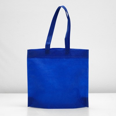 "Packages with the loopback handle ""3D pattern"" 30х35х10 cm, blue"