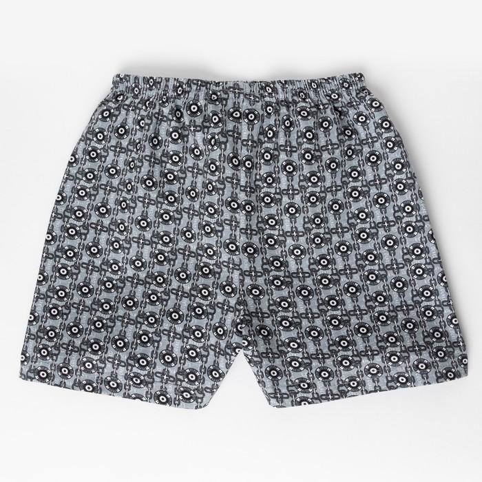 Трусы «Диски» для мальчика, цвет серый, рост 104 см (56) - фото 1939074