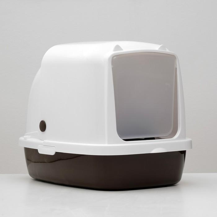 Туалет закрытый «Айша», 53 × 39 × 40 см, коричневый